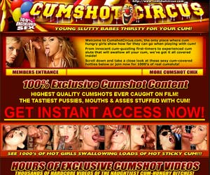 Welcome to Cumshot Circus - 100% exclusive cumshot content!
