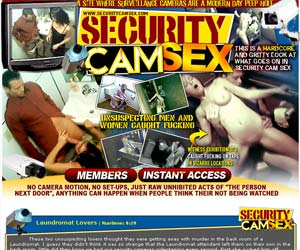 Welcome to Security Cam Sex! No camera motion, no set-ups, just raw unhibites acts of the person next door, anything can happen when people think their not being watched!