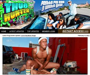 Welcome to Thug Hunter - pretty guys fuck in black gay porn!